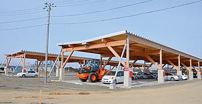 大断面木構造の大空間に最新鋭の技術。国内屈指の大型製材工場!
